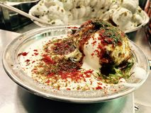 Indian Sweet Dahi Vada. Indian famous sweet and spicy food dahi vada Stock Photography
