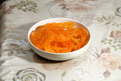 Indian Sweet Delicious jalebi served in a bowl Stock Photos