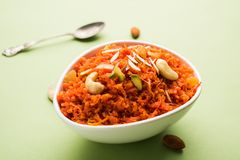 Gajar Halwa or Carrot Halwa Royalty Free Stock Photos