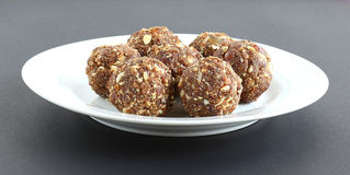 Indian Sweet Dish Dry Fruits and Nuts Laddu Stock Photography