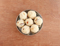 Indian Sweet Dish Rava Laddu Royalty Free Stock Photos