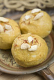 Indian sweet food ladoo Royalty Free Stock Photo
