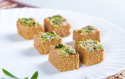 Indian Sweet Gazak or Gajak. Indian Sweet made up of Sesame (til) seeds and jaggaery (gud Royalty Free Stock Photography