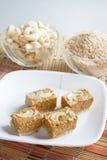 Indian Sweet Gazak or Gajak. Indian Sweet made up of Sesame (til) seeds and jaggaery (gud Stock Photos
