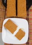 Indian Sweet Gazak or Gajak. Indian Sweet made up of Sesame (til) seeds and jaggaery (gud Royalty Free Stock Image