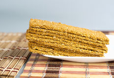 Indian Sweet Gazak or Gajak. Indian Sweet made up of Sesame (til) seeds and jaggaery (gud Royalty Free Stock Photo