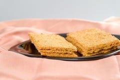 Indian Sweet Gazak or Gajak. Indian Sweet made up of Sesame (til) seeds and jaggaery (gud Royalty Free Stock Photos