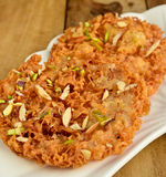 Indian Sweet- Ghevar Royalty Free Stock Images