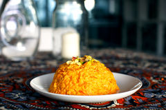 Indian sweet halva made of carrots Stock Photo