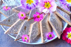 Indian Sweet -Kaju Katli Royalty Free Stock Image