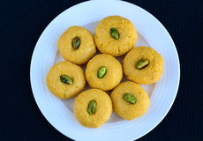 Indian Sweet -Kesar mango Peda Stock Photo