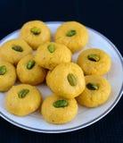 Indian Sweet - Mango Peda Stock Photos