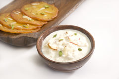 Indian Sweet Rabri stock images
