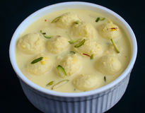 Indian Sweet - rasmalai stock images