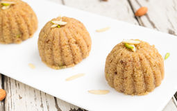 Indian sweet sama Halwa. India Halwa -pudding made from sama or barnyard millet grains,butter and Sugar,eaten during Hindu festival of Navratri in October Royalty Free Stock Photography