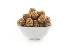 Indian sweet Sesame rullede balls Stock Image