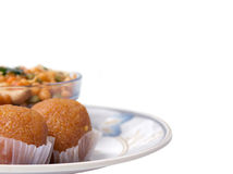 Indian sweet and snacks Stock Images