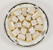 Indian sweets. Fresh and tasty indian sweets for diwali stock image