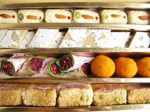 Indian Sweets. Assorted indian sweets in a decorative box royalty free stock photos