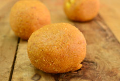 Indian Sweets - Besan laddo Royalty Free Stock Images