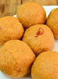Indian Sweets - Besan laddo Royalty Free Stock Image