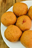 Indian Sweets - Besan laddo Stock Image