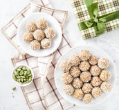 Indian sweets Besan Ladoo Royalty Free Stock Images