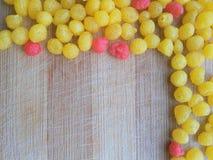 Indian Sweets - Boondi border Stock Photos