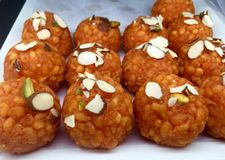 Indian Sweets - Boondi Ladoo Stock Photography