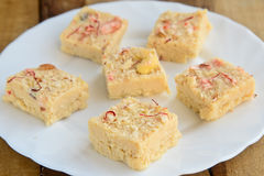 Indian Sweets - Coconut barfi Royalty Free Stock Images