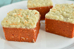 Indian Sweets - Coconut barfi Royalty Free Stock Image