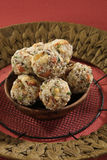 Indian sweets dryfruit and cocnut ladoo. Indian Dish Stock Photo