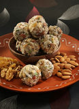 Indian sweets dryfruit and cocnut ladoo Royalty Free Stock Photos