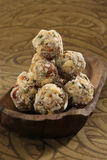 Indian sweets dryfruit and cocnut ladoo Stock Photography