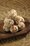 Indian sweets dryfruit and cocnut ladoo Royalty Free Stock Images