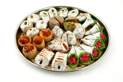 Indian sweets isolated on white background. Royalty Free Stock Photos