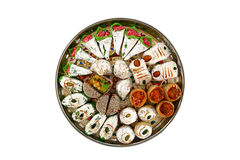 Indian sweets isolated on white background. Royalty Free Stock Photo