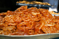 Indian sweets Jalebi Royalty Free Stock Images