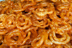 Indian sweets Jalebi Stock Images