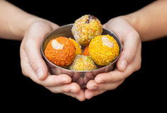 Indian sweets ladu Royalty Free Stock Images