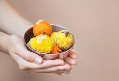 Indian sweets ladu Royalty Free Stock Photo