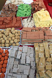 Indian sweets at market Stock Images