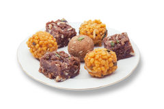 Indian sweets on a plate Royalty Free Stock Images