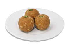 Indian sweets on a plate Royalty Free Stock Image