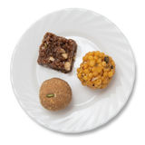 Indian sweets on a plate Stock Photography