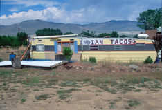 An Indian taco stand Royalty Free Stock Photography