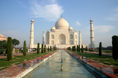 Indian Taj Mahal. It is India's famous buildings, is India's landmark building Royalty Free Stock Photos