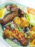 Indian Tandoori mixed grill meal Stock Photos