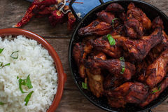 Indian tandoori style chicken Stock Photography