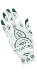 Indian Tattoo Artwork. Illustration of a henna tattoo artwork of India, which is done on a woman's hands Stock Images